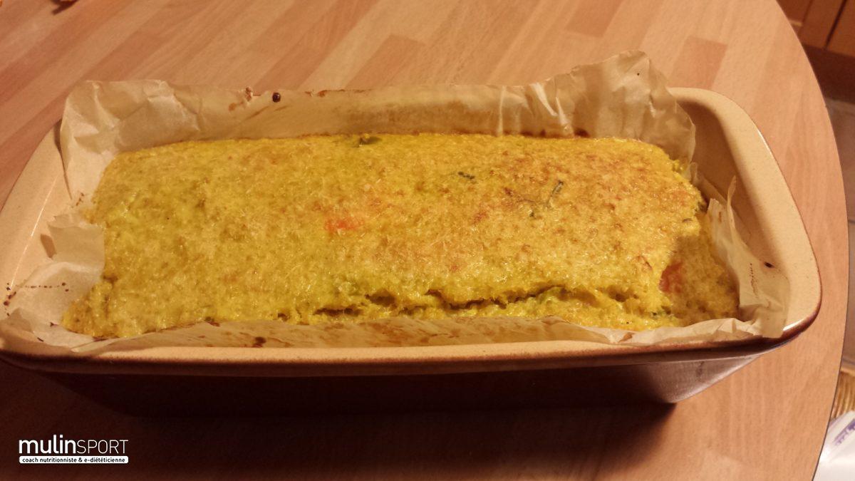 Cake de Quinoa au curcuma, et legumes