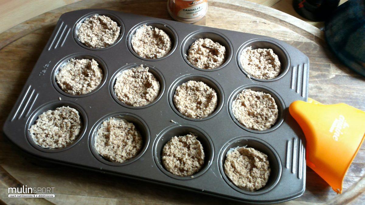 Muffins flocons d'avoine au lait de coco et cannelle sans gluten