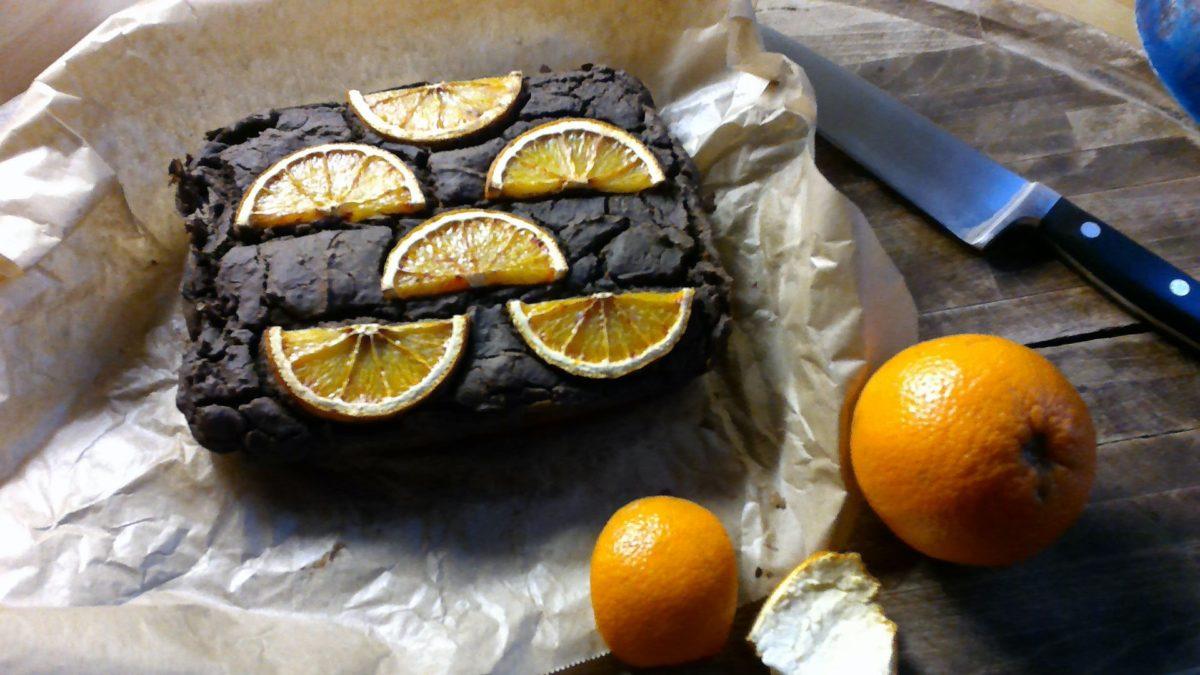 Cake au cacao, zeste d'orange 🍊🍊à la farine de lupin #low carb #glutenfreee
