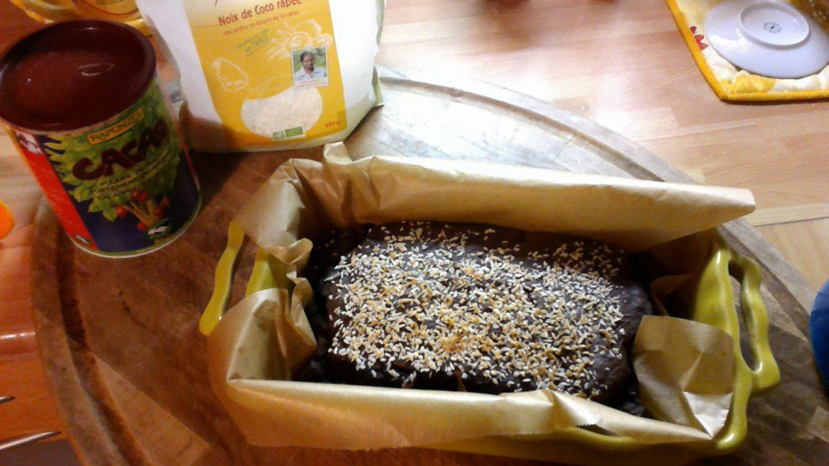 CAKE CACAO, PULPE DE COCO 🥥🥥#LOWCARB #GLUTENFREE