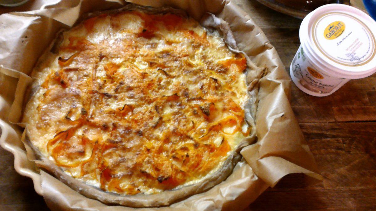 Tarte blés anciens aux tagliatelles de carottes, crème fraîche de brebis et parmesan🥕🌿🥕🌿Au Vitaliseur de Marion